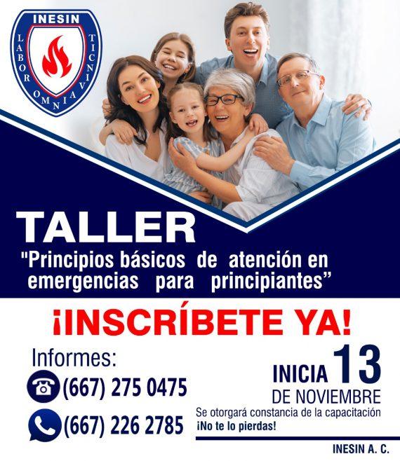 Taller: Principios básicos de atención a emergencias para principiantes.